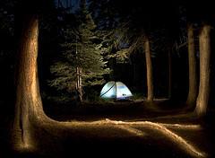 露营地的光绘照片