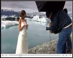 英国摄影师Platon拍摄的白色婚纱