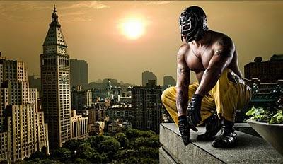 戴面具的摔跤手