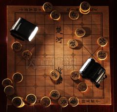 永诺YN565EX和佳能580EX闪光灯下象棋