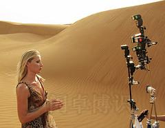 沙漠拍摄中的模特