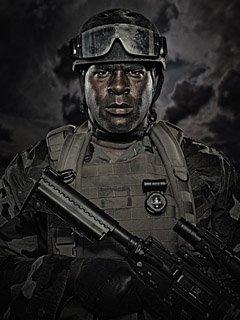 海豹突击队员肖像照