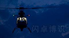 空中飞行的直升机