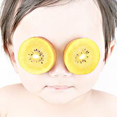 搞笑的猕猴桃眼睛