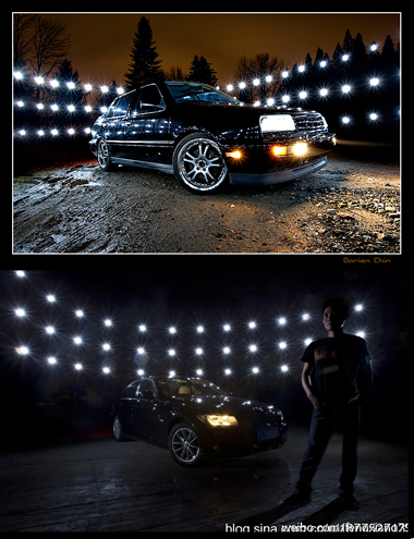 西雅图摄影师Darien Chin与祥子模仿布光对比