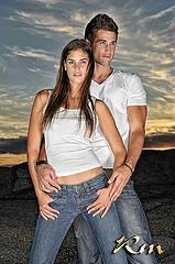 南非摄影师Robert Miller拍摄的男女两人的肖像照