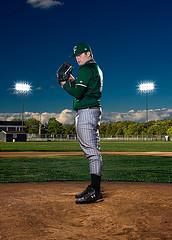 Keaton Andrew为棒球投手拍摄的肖像照