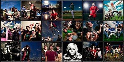 年轻人拍摄的后期合成照片的汇集
