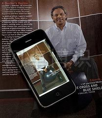 大卫·豪比用苹果iPhone手机拍摄Brent Humphreys为杂志拍摄的人像照广告,然后存到手机上的布光档案