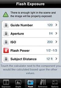 iPhone手机程序中的指数计算器界面