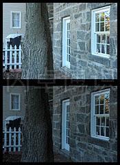 大卫·豪比拍摄的背景现场光曝光值不同的对比