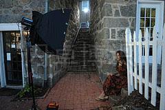 大卫·豪比为诗人Linda Joy Burke拍摄时的灯光布置