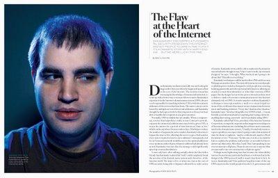 约翰•肯特利为技术评论杂志给电脑黑客Dan Kaminsky拍摄的头像照