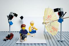 英国摄影师Mike Stimpson拍的大卫•豪比的乐高玩具布光照片