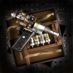闪卓博识读者Cohophoto自己动手制作的蒸汽朋克射线枪