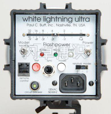 一体式影室灯WL Ultra 600的控制面板剖面图