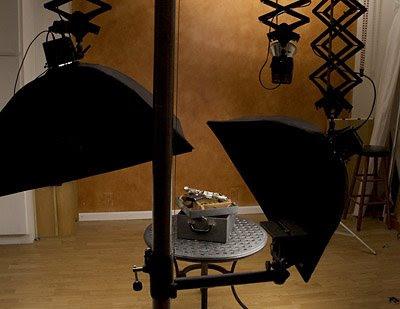 闪卓博识读者Cohophoto拍摄蒸汽朋克射线枪的布光图