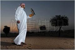 大卫·豪比利用将主光放在远处打出均匀的光拍摄的Omar和鹰