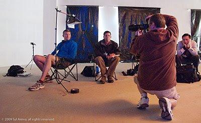 Syl Arena拍摄的大卫·豪比给Brett拍摄的肖像照时的布光照
