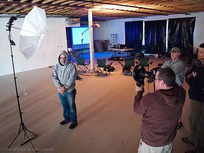 大卫·豪比在为Bill拍摄肖像照时的布光图