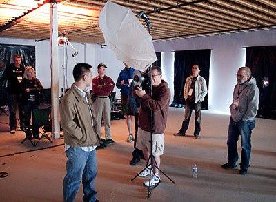 Syl Arena拍摄的大卫·豪比为Steven拍照时的布光图
