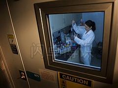 大卫·豪比拍摄的正在冷冻培养室工作的Valerie
