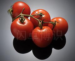 大卫·豪比为西红柿前方加上反光板后拍摄的西红柿