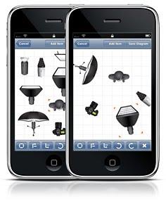 可以直接在iPhone上直接制作布光图的软件Strobox