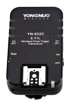永诺收发一体的TTL引闪器YN-622C外观图