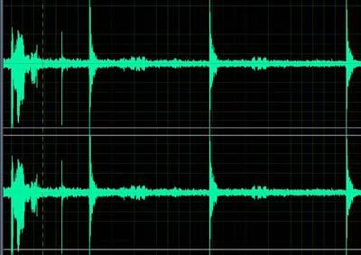 使用专业音频软件测量录像的音频图