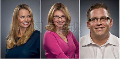 大卫·豪比为一家金融服务公司社交媒体团队拍摄的肖像照