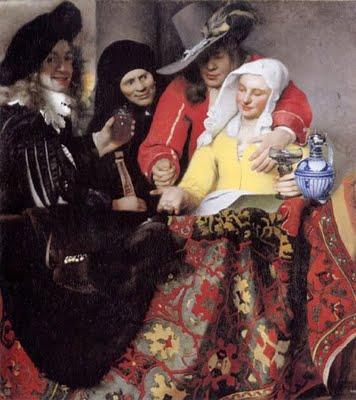 约翰内斯•维米尔的作品老鸨和美女图