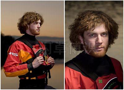 大卫·豪比为皮艇探险员Trip Jennings拍的肖像照