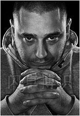 大卫·豪比使用镶边光为Jordan拍摄的头像照